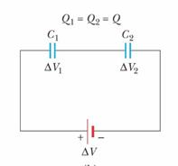 خازن معادل در اتصال سری