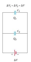 خازن معادل در اتصال موازی